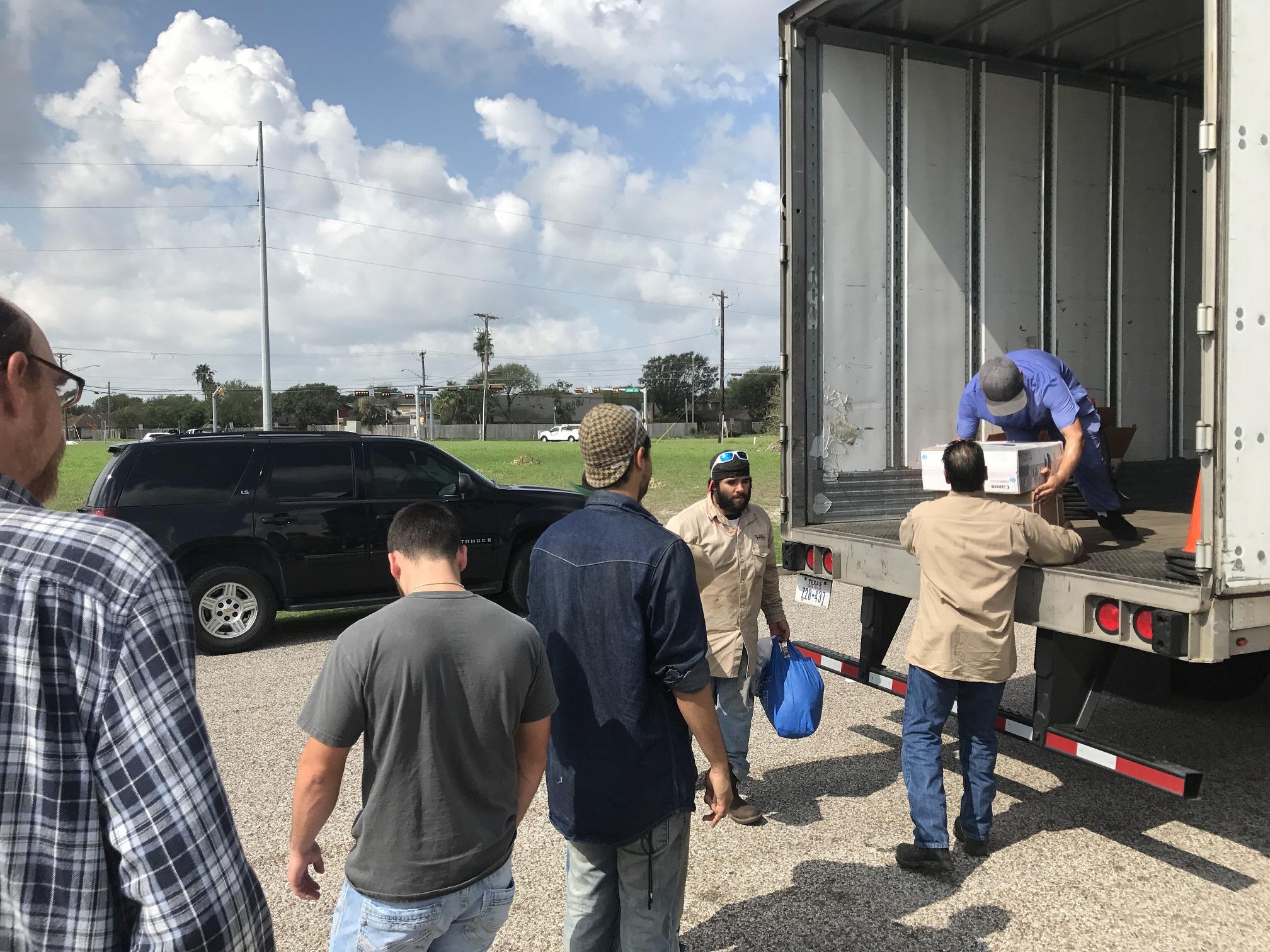 SCI Corpus Students Unload Truck