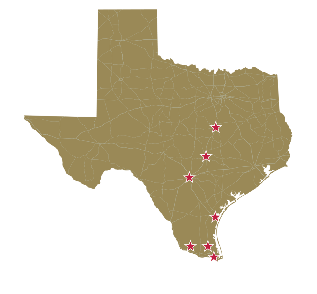 SCI Locations in Texas